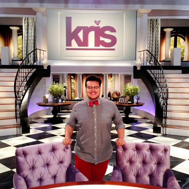 Jonathan-Valdez-Visits-The-Kris-Jenner-Show-Set